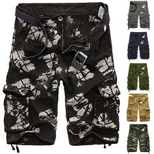 Military Mens Summer Cotton Casual Army Combat Cargo Work Short Pants Shorts New