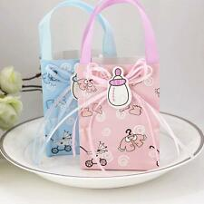 12x Cute Girl Boy Baby Shower Candy Gift Bags Tote 1st Birthday Party Favor