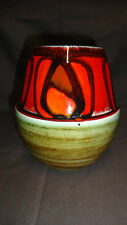 "Unusual Two Tone Vintage Poole Pottery 6"" Delphis Vase 83 - 1960's/70's"