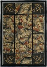United Weavers Hautman Antler's Camo Rustic Country Cabin Soft Polyproplene Rug