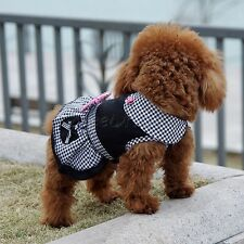 Charming Little Dog Pet Dress Plaid Summer Apparel Puppy Skirt Princess Cloth