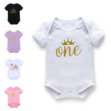 Newborn Kids Baby Girl Boy Short Sleeve One Piece Romper Bodysuit Clothes Outfit