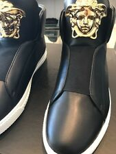 VERSACE MENS PALAZZO  H/TOP BOOT  LEATHER NEW IN BOX MADE IN ITALY