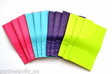 20 CANDY BAGS Smll Buffet Lolly Bar Wedding Paper Bright Plain Fluro Party Favor