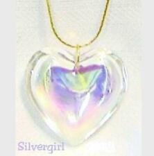 Large Heart Pendant Necklaces Glass, Stone, Shell, Turquoise Howlite