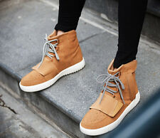 Men Causal Sport Solid Lace Up Flats Plus Size  Canvas Ankle Boots  shoes