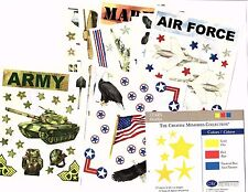 Creative Memories MILITARY Sticker Sheets and Die Cuts - You Choose