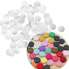 100x Round Buttons Base for DIY Fabric Buttons Handmade Cover Cloth Button Craft