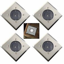 NEW BRIGHT WHITE LED SQUARE SOLAR GARDEN DECKING DECK LIGHTS PATIO DRIVEWAY SETS