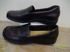 Air Supply Plus Shoes Loafers Black Leather 8.5 W Nice
