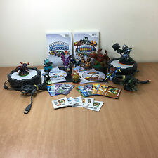 Skylanders Bundle 11 Figures 2 Portals Giants & Spyro's Adventure Wii Games