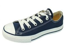 New Authentic Converse All Star Chuck Taylor BLUE Canvas Low Sneaker youth