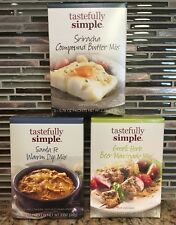 Tastefully Simple Feisty Fajita, Santa Fe Warm, Va Va Veggie, Greek Herb Beer