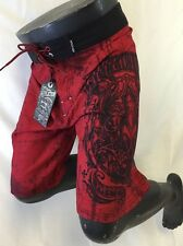Mens AFFLICTION BOARD SHORTS Red A FRAME Sizes 30 31 32 33 34 36 38 40 42 BS131