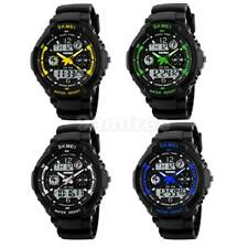 Mens Boys Analog Digital LED Date Day Waterproof Army Sport Quartz Wrist Watch