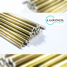 2 or 5 PCS - BRASS ROUND BAR / RODS 0.5mm 0.8mm 1.0mm - 100mm to 1000mm LONG rod