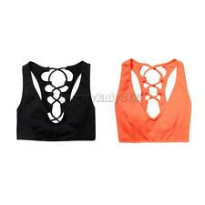 Sports Strappy Bra Women Fitness Running Top Exercise Yoga Vest Shockproof Tank