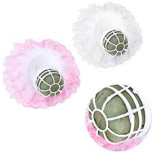 Bouquet Handle Holder + White Lace Collar for Bridal Floral Wedding Flower  SN