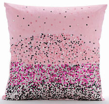 Sequins Ombre 65x65 cm Art Silk Pink Euro Shams Covers - Pink Starburst