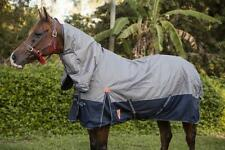 Capriole Grey/Navy 1200D Winter Waterproof Turnout Combo Horse Rug-250G Fill
