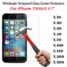 """LOT 100x Wholesale 9H Tempered Glass Screen Protector Film for iPhone 7 4.7"""""""
