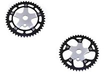 BICYCLE ALLOY CHAINRING SPROCKET 1/2 X 1/8 X 44T BLACK/CHROME CRUISER BMX NEW!