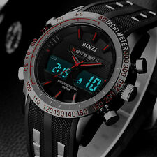 New BINZI Brand Watch Mens Date Day LED Display Luxury Sport Watches Digital Mil