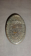 ANTIQUE VICTORIAN ENGRAVED SILVER PLATED SNUFF BOX - MORRIS MOLLINS 1889