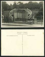 Algeria Old Real Photo Postcard Alger Algiers Public Gardens Entrance Gate Steps