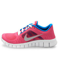 NIKE Free Run 3 GS FUSION PINK Silver Blue Shoes NIB Girls Youth Size 5 / 37.5