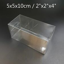 """2""""x2""""x4"""" Bomboniere Favour Boxes Fold Up Wedding Clear Plastic Packaging"""