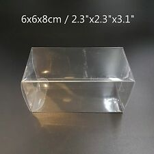 """2.3""""x2.3""""3.1"""" Bomboniere Favour Boxes Fold Up Wedding Clear Plastic Packaging"""