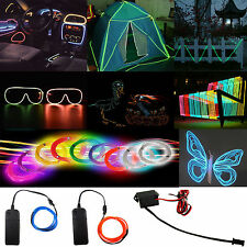 1-5M Flash Flexible Neon LED Light Glow EL Strip Tube Wire Rope Car Party Lights
