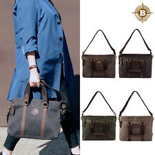 Builford Cuspy Carry On Bag / Men Tote luggage Waxed Canvas Bag Shoulder Cross