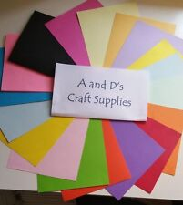 A4 COLOURED CRAFT CARD - 160GSM - MATTE, DOUBLE SIDED - CHOOSE YOUR COLOUR/PACK