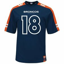 Peyton Manning #18 Denver Broncos Mens Majestic Hashmark Jersey Big & Tall Sizes