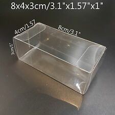 """Clear Plastic PVC Boxes Party Favor Wedding Tuck Top Display Box 3.1""""x1.57""""x1"""""""