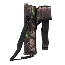Outdoor Archery Hunting Bow Arrow Holder Belt Bag Pouch Back Quiver with 3 Tubes