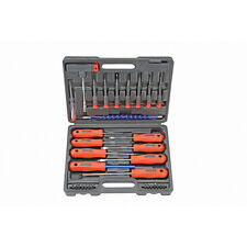 32 Piece Precision Slotted, Philips, Hex Screwdriver Set with Bits +Plastic Case