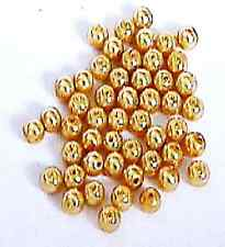 Shades of Gold Brown 4mm Round Glass Pearl Beads 50 pcs Jewellery Making Crafts