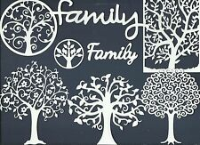 LOTS 4 - 8 FAMILY TREE DIE CUTS SUB-SETS FRAME TOPPER HEART SWIRL BRANCH  READ