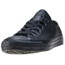 Converse All Star Leather Ox Womens Trainers Black Black Branded Footwear