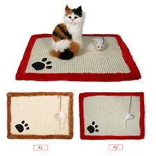 45 * 30cm Cat Kitten Scratcher Scratching Post Claw Mat Pad With Interactive Toy
