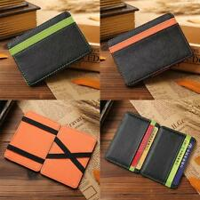 Business Mens Purse Leather Magic Credit Card ID Holder Money Clip Wallet