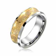 Celtic Dragon Tungsten Concave Wedding Ring 9mm