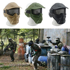 Safety Metal Mesh Protective Airsoft Military Tactical Full Face Goggles Mask ab