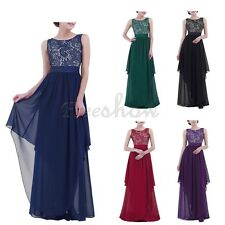 Women Elegant Long Dress Evening Gown Ball Party Bridesmaid Formal Prom Cocktail