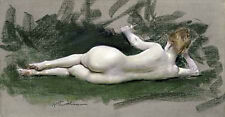 Gallery Wrap Canvas Art figures Nudes Figurative Reclining Nude  Chase, William