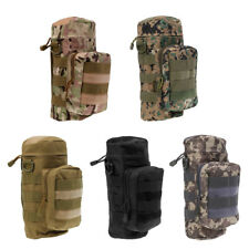 Militray Tactical Molle Zipper Water Bottle Hydration Pouch Bag for Hiking
