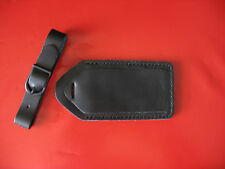 Lot 6 pcs Genuine Black Leather Travel Luggage Tags- Carry on Luggage I.D. Tags